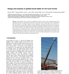 pdf design and analysis of uptilted aerial ladder for fire truck format [ 850 x 1202 Pixel ]