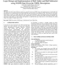 pdf logic design and implementation of half adder and half subtractor using nand gate given the vhdl descriptions [ 850 x 1238 Pixel ]