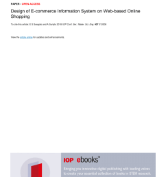 pdf design of e commerce information system on web based online shopping [ 850 x 1203 Pixel ]