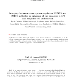 pdf the master regulator fubp1 its emerging role in normal cell function and malignant development [ 850 x 1202 Pixel ]