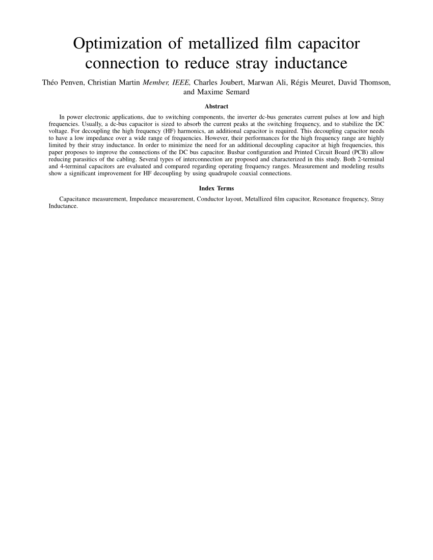 hight resolution of  pdf optimization of metallized film capacitor connection to reduce stray inductance