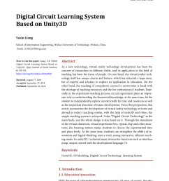 pdf digital circuit learning system based on unity3d [ 850 x 1153 Pixel ]