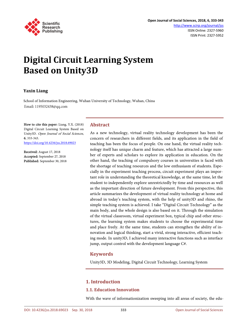 hight resolution of  pdf digital circuit learning system based on unity3d