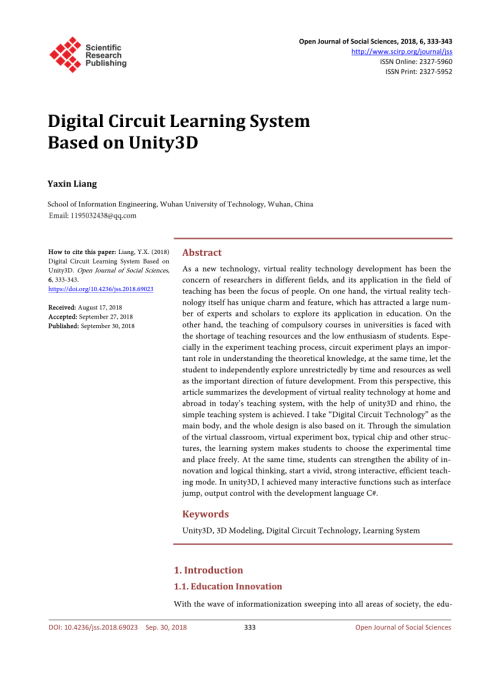 small resolution of  pdf digital circuit learning system based on unity3d