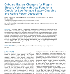 pdf onboard battery chargers for plug in electric vehicles with dual functional circuit for low voltage battery charging and active power decoupling [ 850 x 1156 Pixel ]