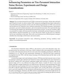 pdf influencing parameters on tire pavement interaction noise review experiments and design considerations [ 850 x 1202 Pixel ]