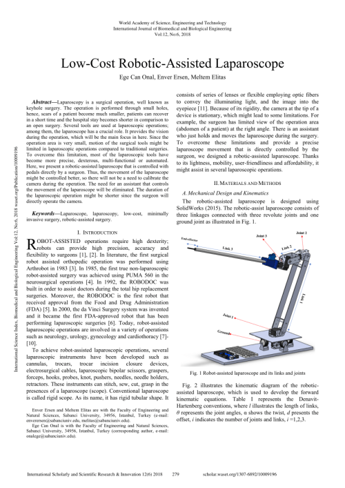 small resolution of robot assisted laparoscope and its kinematic diagram using the rh researchgate net kinematic drawing kinematic hardening