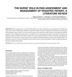 pdf the nurse role in pain assessment and management of pediatric patient a literature review [ 850 x 1100 Pixel ]