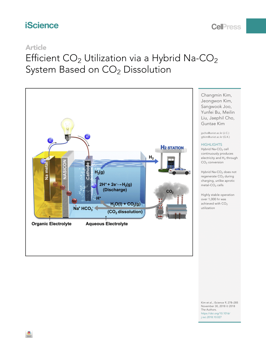 medium resolution of  pdf efficient co2 utilization via a hybrid na co2 system based on co2 dissolution