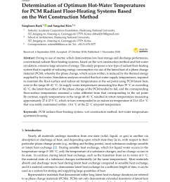 pdf determination of optimum hot water temperatures for pcm radiant floor heating systems based on the wet construction method [ 850 x 1202 Pixel ]
