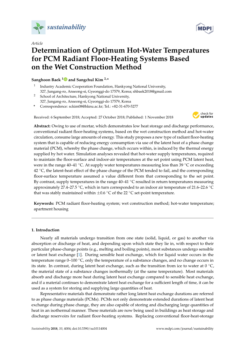 hight resolution of  pdf determination of optimum hot water temperatures for pcm radiant floor heating systems based on the wet construction method
