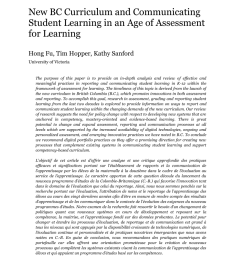 PDF) New BC curriculum and communicating student learning in an age of  assessment for learning [ 1100 x 850 Pixel ]