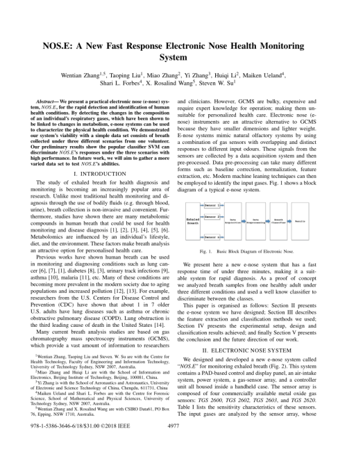 small resolution of e a new fast response electronic nose health monitoring system wentian zhang