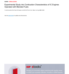 pdf effect of fuel types on combustion characteristics and performance of a four stroke ic engine [ 850 x 1203 Pixel ]
