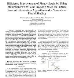 a particle swarm optimization based maximum power point tracking algorithm for pv systems operating under partially shaded conditions [ 850 x 1100 Pixel ]