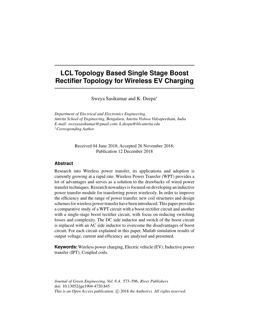 medium resolution of  pdf overview of wireless power transfer for electric vehicle charging