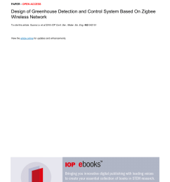 pdf design of greenhouse detection and control system based on zigbee wireless network [ 850 x 1203 Pixel ]