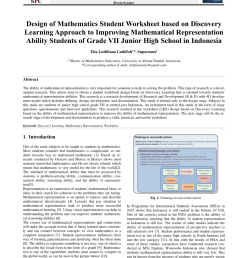 PDF) Design of Mathematics Student Worksheet based on Discovery Learning  Approach to Improving Mathematical Representation Ability Students of Grade  VII Junior High School in Indonesia [ 1203 x 850 Pixel ]