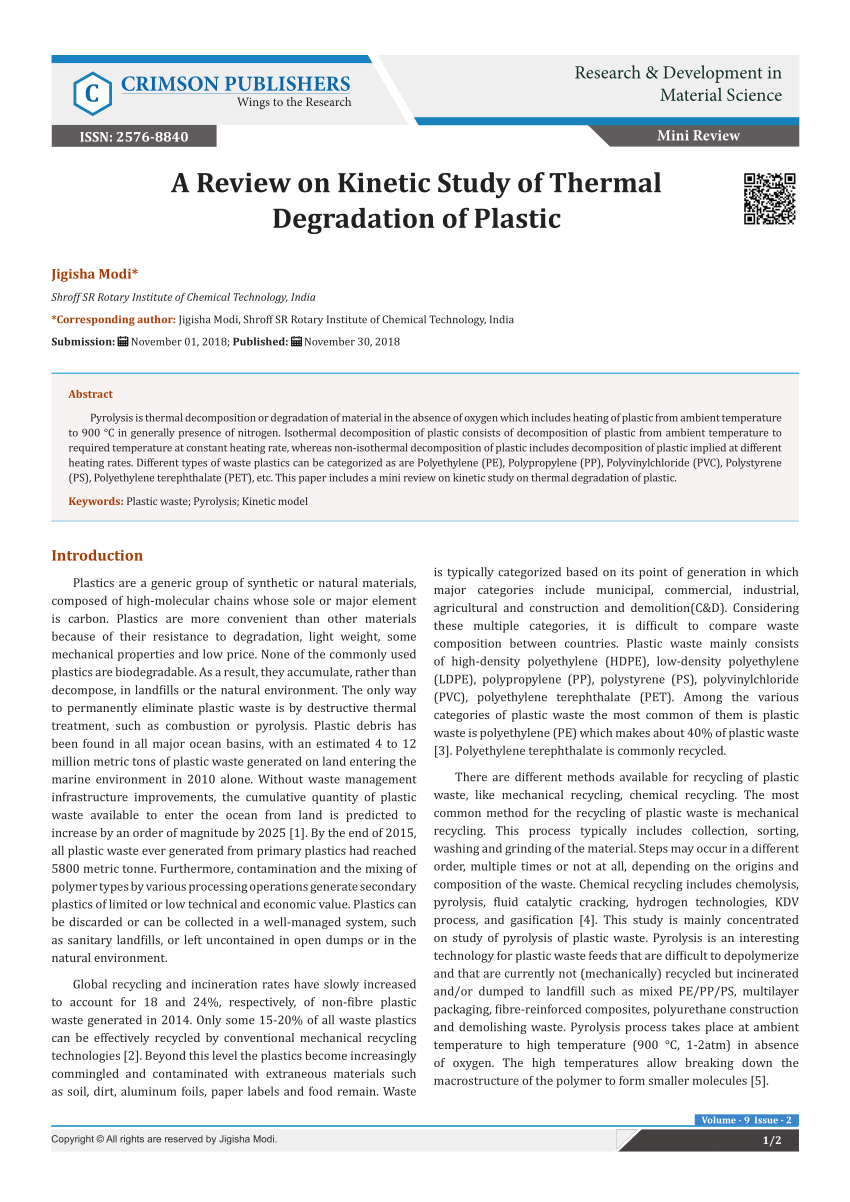 medium resolution of  pdf mechanical and chemical recycling of solid plastic waste