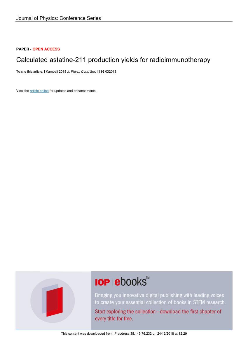 medium resolution of  pdf targeted radionuclide therapy with astatine 211 oxidative dehalogenation of astatobenzoate conjugates