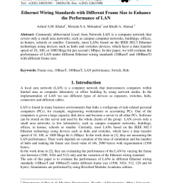 pdf ethernet wiring standards with different frame size to enhance the performance of lan [ 850 x 1203 Pixel ]