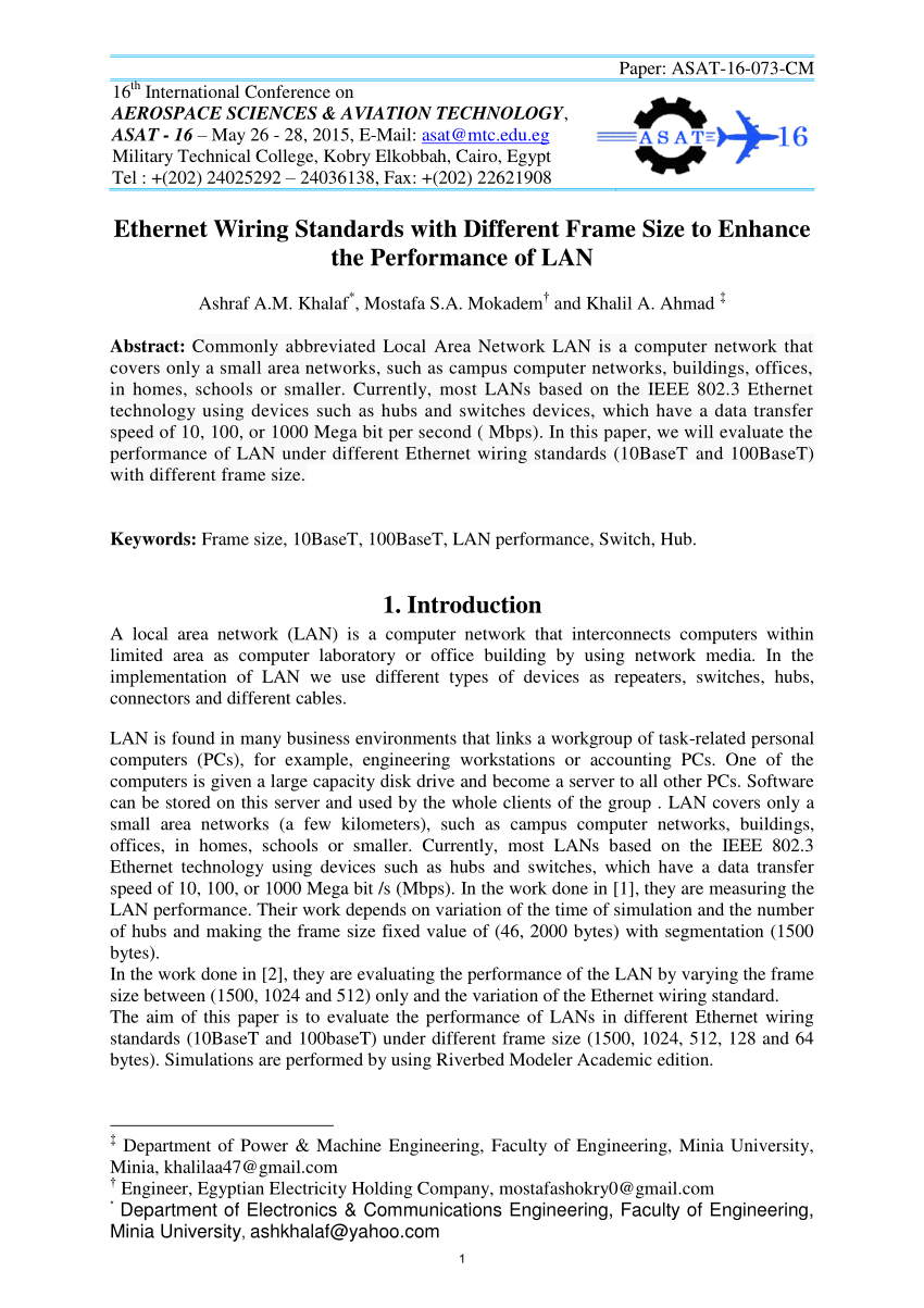 medium resolution of  pdf ethernet wiring standards with different frame size to enhance the performance of lan