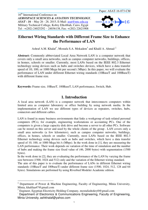 small resolution of  pdf ethernet wiring standards with different frame size to enhance the performance of lan
