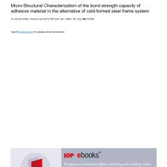 Dimensi Truss Baja Ringan Pdf Micro Structural Characterization Of The Bond Strength