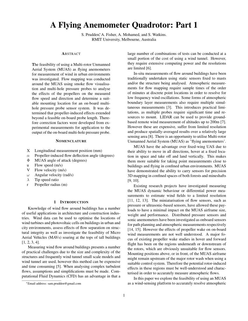 medium resolution of  pdf an anemometer for uas based atmospheric wind measurements