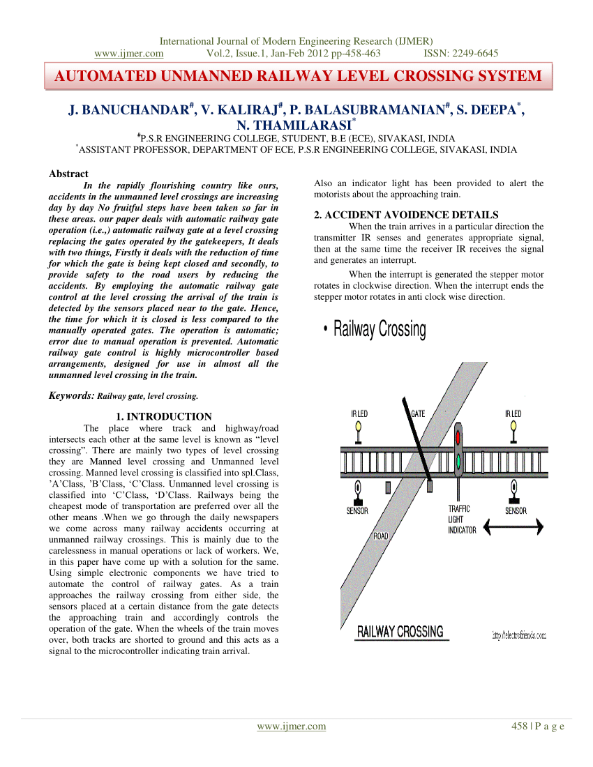 hight resolution of  pdf automated unmanned railway level crossing system