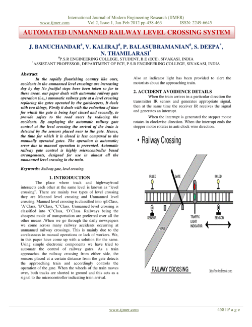 small resolution of  pdf automated unmanned railway level crossing system
