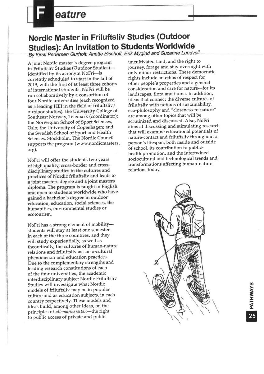 (PDF) Nordic master in Friluftsliv Studies (Outdoor