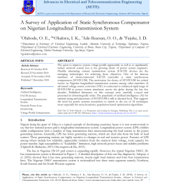 pdf analysis of technical losses in electrical power system nigeria 330kv network as a case study [ 850 x 1202 Pixel ]