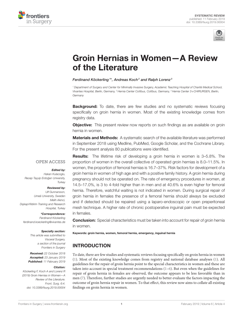 medium resolution of  pdf inguinal hernia repair in women is the laparoscopic approach superior
