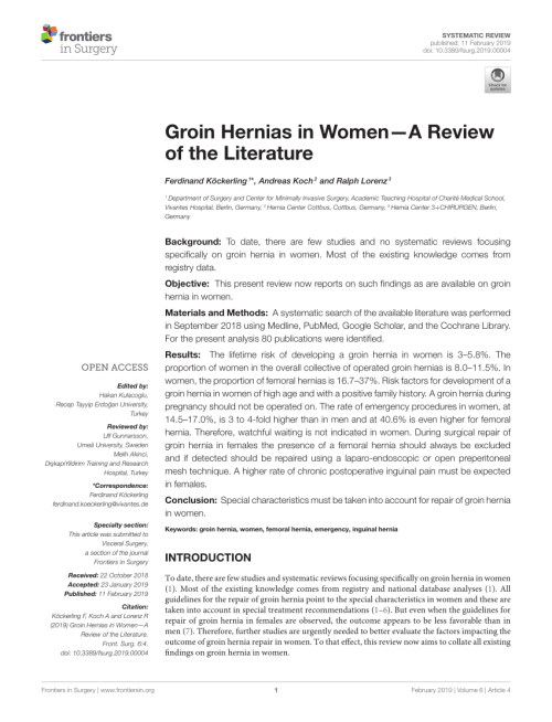 small resolution of  pdf inguinal hernia repair in women is the laparoscopic approach superior