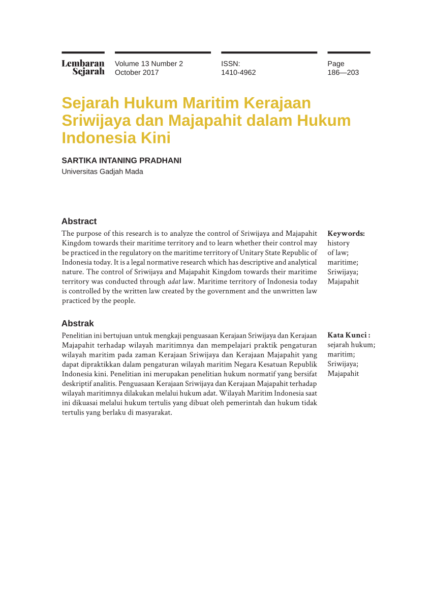 Kerajaan Sriwijaya Disebut Kerajaan Maritim : kerajaan, sriwijaya, disebut, maritim, Sejarah, Hukum, Maritim, Kerajaan, Sriwijaya, Majapahit, Dalam, Indonesia
