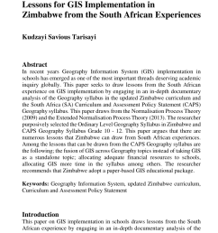 PDF) Lessons for GIS Implementation in Zimbabwe from the South African  Experiences [ 1208 x 850 Pixel ]