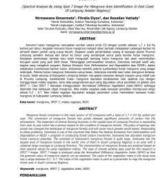 pdf analisis spektral citra spot 7 untuk identifikasi kawasan mangrove di pantai timur kabupaten lampung selatan [ 850 x 1202 Pixel ]