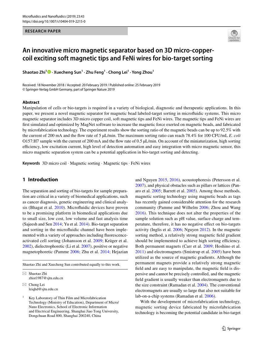 medium resolution of  pdf magnetophoresis of diamagnetic micro particles in a weak magnetic field