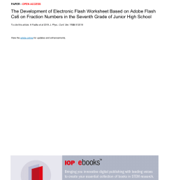 PDF) The Development of Electronic Flash Worksheet Based on Adobe Flash Cs6  on Fraction Numbers in the Seventh Grade of Junior High School [ 1203 x 850 Pixel ]