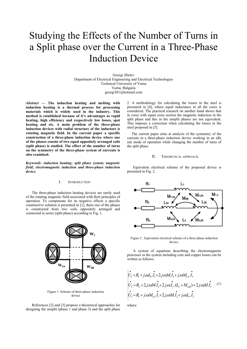 hight resolution of  pdf studying the effects of the number of turns in a split phase over the current in a three phase induction device