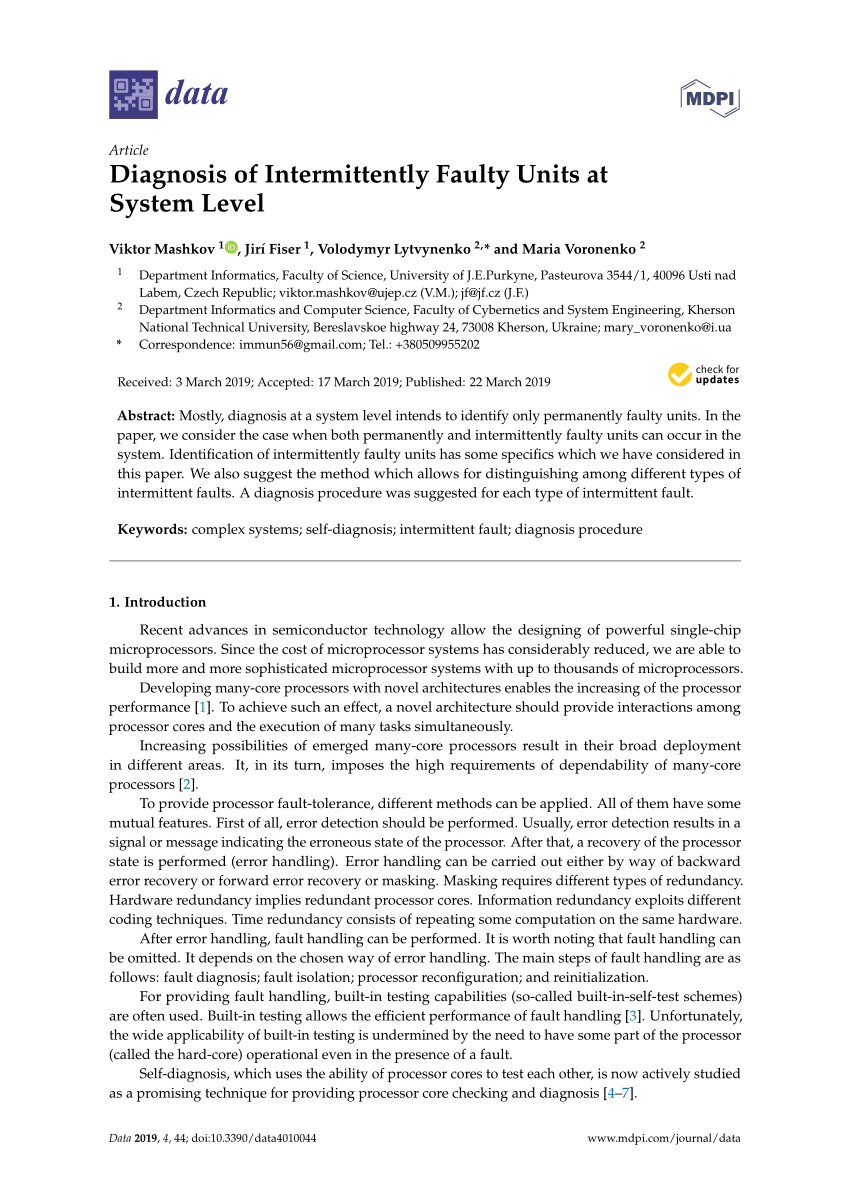 hight resolution of  pdf study on intermittent faults and electrical continuity