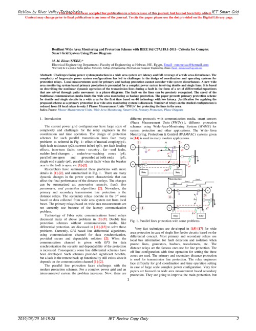 small resolution of wide area protection fault identification algorithm based on multi information fusion zhenxing li request pdf