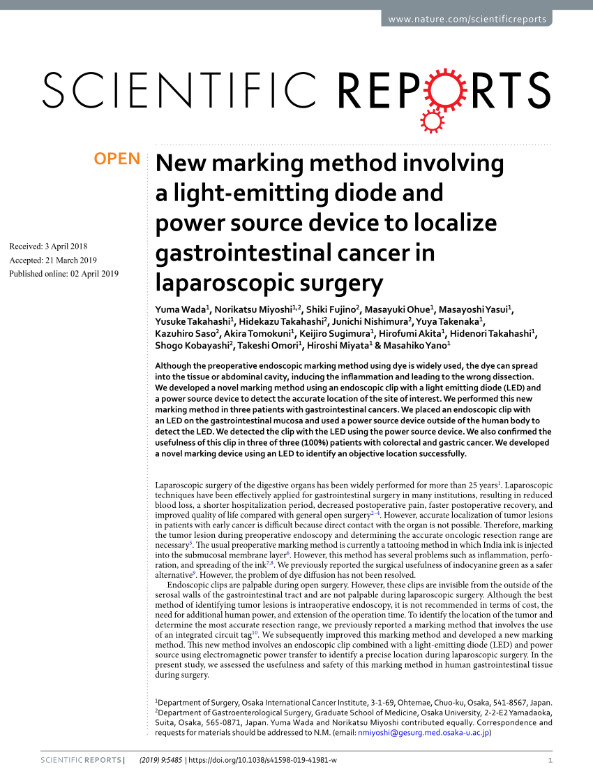 Pdf A New Endoscopic Tattooing Technique For Identifying The
