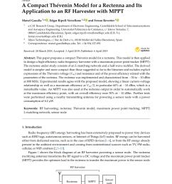 pdf enhanced passive rf dc converter circuit efficiency for low rf energy harvesting [ 850 x 1202 Pixel ]