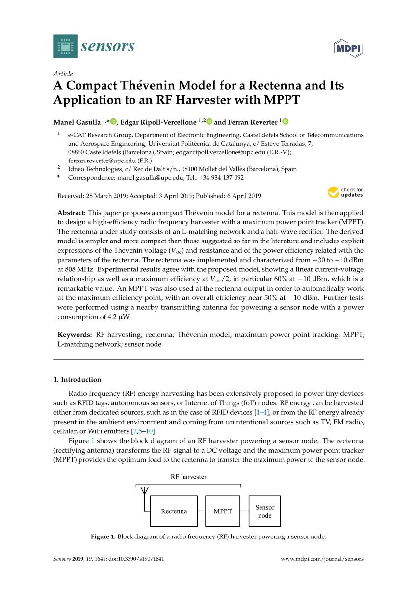 medium resolution of  pdf enhanced passive rf dc converter circuit efficiency for low rf energy harvesting