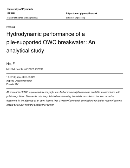 small resolution of optimisation of turbine induced damping for an owc wave energy simple electric generator diagram angliacampus transformers how