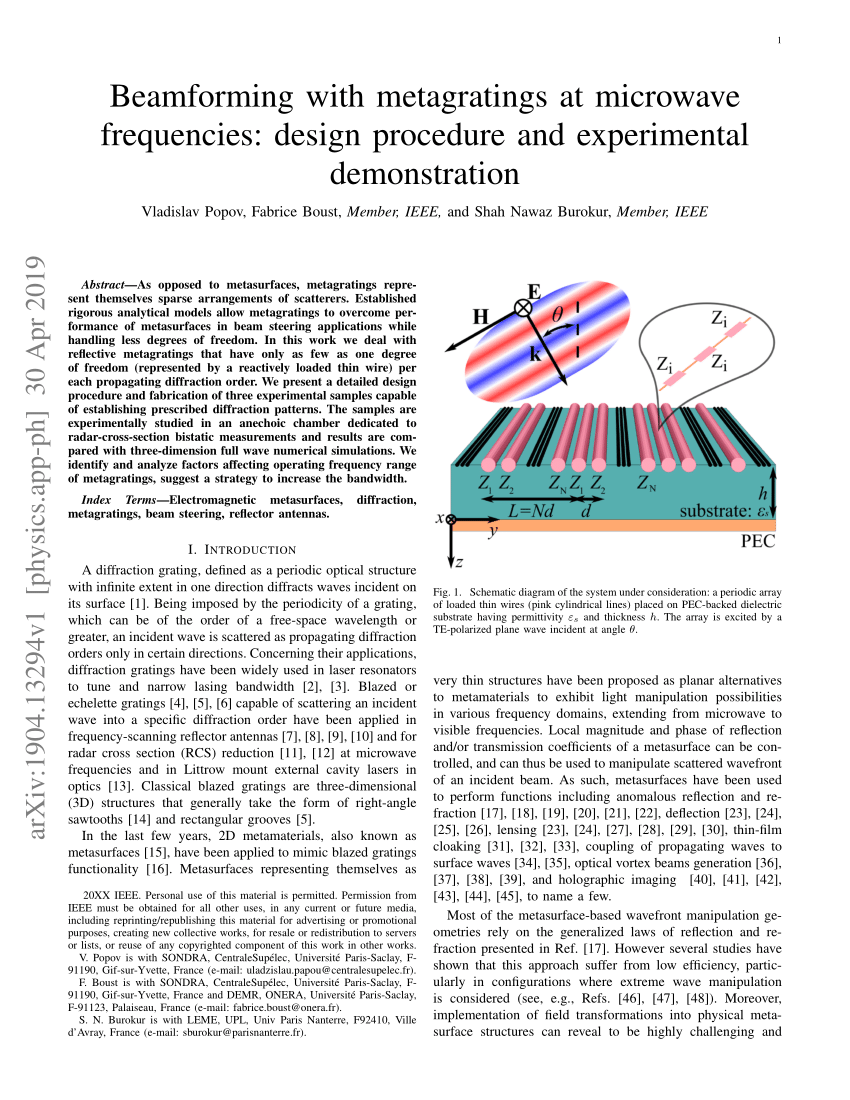 medium resolution of huygens metasurfaces via the equivalence principle design and applications request pdf