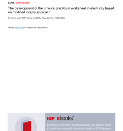 PDF) The development of the physics practicum worksheet in electricity  based on modified inquiry approach [ 1203 x 850 Pixel ]