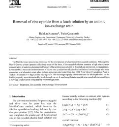 pdf removal of zinc cyanide from a leach solution by an anionic ion exchange resin [ 850 x 1162 Pixel ]
